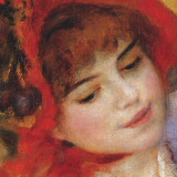 Dance at Bougival (detail) Posters by Pierre-Auguste Renoir