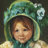 Child in Bonnet (detail) Prints by Mary Cassatt