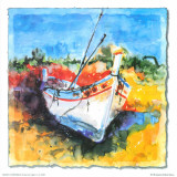 Boat from Algarve I Print by Hans Oosterban