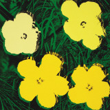 Flowers, c.1970 (4 yellow) Posters by Andy Warhol