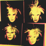 Self-Portrait, c.1986 (4 yellow Andys) Posters by Andy Warhol