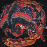 Phoenix (detail) Prints by Katsushika Hokusai