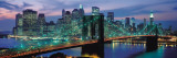 Brooklyn Bridge and Skyline at Night Print by Richard Berenholtz