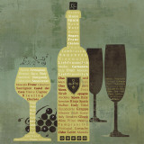 Wine to Live By II Posters par David Fischer