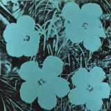 Flowers (Blue), c.1967 Affiches par Andy Warhol