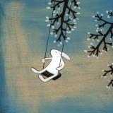 Volg je hart, rustig schommelend Schilderij van Kristiana Pärn