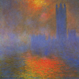 Houses of Parliament Posters van Claude Monet
