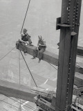 Workers Sitting on Steel Beam Pósters