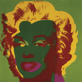 Marilyn Monroe (Marilyn), c.1967 (on green) Poster by Andy Warhol