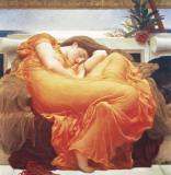 Slapende vrouw: Flaming June Posters van Frederic Leighton