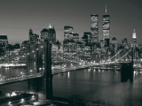 Manhattan Skyline at Night Posters by Richard Berenholtz