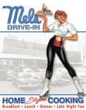 Mels Diner - Car Hop Plechová cedule