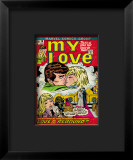 Marvel Comics Retro: My Love Comic Book Cover #18, Kissing, Love on the Rebound Impressão giclée emoldurada