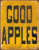 Good Apples Tin Sign