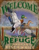 Welcome to our Refuge Emaille bord