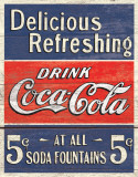 COKE - Delicious 5 Cents Plaque en métal