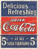 COKE - Delicious 5 Cents Plakietka emaliowana