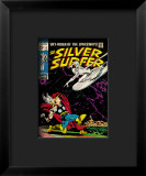 Marvel Comics Retro: Silver Surfer Comic Book Cover 4, Thor Framed Giclee Print