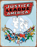 Justice League Retro Plaque en métal