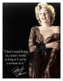Marilyn - Man's World Plaque en métal