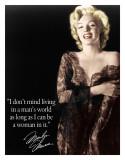 Marilyn - Man's World Blechschild
