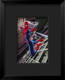 Spider-Man Swinging In the City Framed Giclee Print