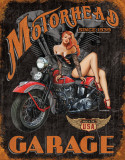 Legends - Motorhead Garage Cartel de chapa