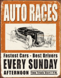 Vintage Auto Races Pltskylt