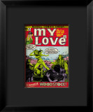 Marvel Comics Retro: My Love Comic Book Cover #14, Woodstock Impressão giclée emoldurada