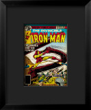 Marvel Comics Retro: The Invincible Iron Man Comic Book Cover #121; Fighting Namor Lmina gicle enmarcada