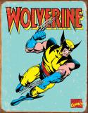 Wolverine Retro Plaque en métal