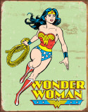 Wonder Woman Retro Placa de lata