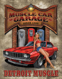 Legends - Muscle Car Garage Cartel de chapa