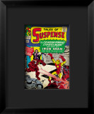 Marvel Comics Retro: The Invincible Iron Man Comic Book Cover 52, Facing the Crimson Dynamo Framed Giclee Print