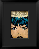 Marvel Comics Retro: Love Comic Panel, Proud Single Woman Framed Giclee Print