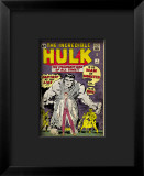 Marvel Comics Retro: The Incredible Hulk Comic Book Cover #1, with Bruce Banner Lmina gicle enmarcada
