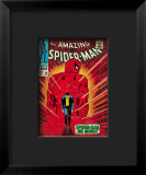 Marvel Comics Retro: The Amazing Spider-Man Comic Book Cover #50, Spider-Man No More! Impressão giclée emoldurada