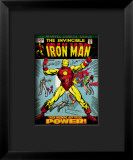 Marvel Comics Retro: The Invincible Iron Man Comic Book Cover #47, Breaking Through Chains Impressão giclée emoldurada