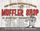 Busted Knuckle - Muffler Shop Tin Sign