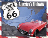 Route 66 - 1926 to 1985 Tin Sign
