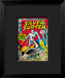 Marvel Comics Retro: Silver Surfer Comic Book Cover #17 Impressão giclée emoldurada