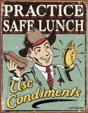 Schonberg - Safe Lunch Cartel de chapa