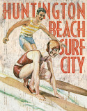 Huntington Beach Surf Club Tin Sign