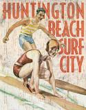 Huntington Beach Surf Club Cartel de chapa