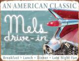 Mels Diner Classic Plaque en métal