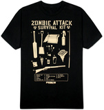 Shaun of the Dead - Zombie Attack Survival Kit Tshirts