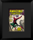 Marvel Comics Retro: Amazing Fantasy Comic Book Cover #15, Introducing Spider Man Lmina gicle enmarcada
