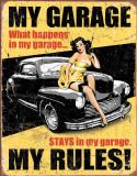 Legendy: Mój garaż, angielski Plakietka emaliowana