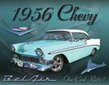 Chevy 1956 Bel Air - Metal Tabela