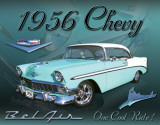 Chevy 1956 Bel Air Cartel de metal